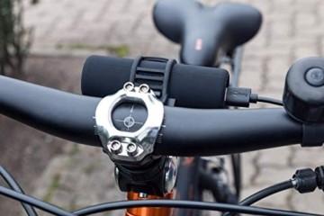 Goobay 58944 Bike Powerbank 5.0 mit 5000 mAh inklusiv Halterung zur Montage, Externer Akku Ladegerät für Samsung/HTC/Apple iPhone - 6