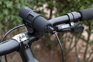 Goobay 58944 Bike Powerbank 5.0 mit 5000 mAh inklusiv Halterung zur Montage, Externer Akku Ladegerät für Samsung/HTC/Apple iPhone - 7