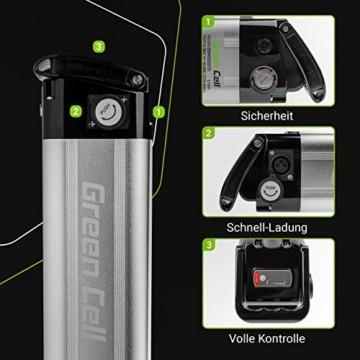 Green Cell® E-Bike Akku 36V 10.4Ah Li-Ion Pedelec E-Faltrad Fahrradakku Silverfish Batterie mit Ladegerät für Cyco Frisbee Bikes Kreidler MiFa Prophete Rex Trio Zündapp - 3