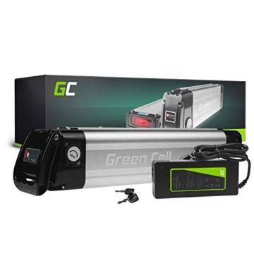 Green Cell® E-Bike Akku 36V 10.4Ah Li-Ion Pedelec E-Faltrad Fahrradakku Silverfish Batterie mit Ladegerät für Cyco Frisbee Bikes Kreidler MiFa Prophete Rex Trio Zündapp - 1
