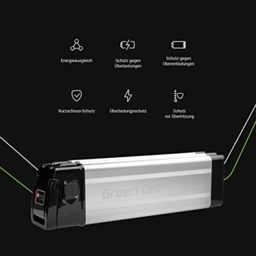 Green Cell® E-Bike Akku 36V 11Ah Li-Ion Fahrradakku E-Faltrad Pedelec Silverfish Batterie mit Ladegerät für Cyco Frisbee Bikes Kreidler MiFa Prophete Rex Trio Zündapp - 2