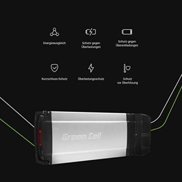 Green Cell® E-Bike Akku 36V 8.8Ah Li-Ion Fahrradakku Pedelec Rear Rack Gepäckträger Batterie mit Ladegerät - 2