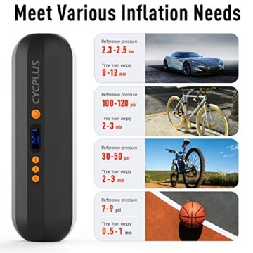 Luftkompressor Elektrische Luftpumpe 12V Digitale Reifenpumpe Fahrradluftpumpe Kompressoren für Fahrrad, Motorrad, Basketball, Football-A4 - 3