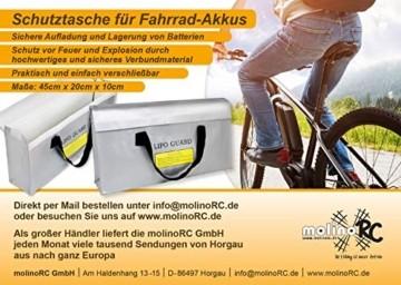 molinoRC E-Bike Ebike Pedelec Rad Akku E-Scooter Batterie Tasche feuerfest für Lagerung / Transport / 2 Akkus Aller Marken / 450 x 200 x 100 mm - 8