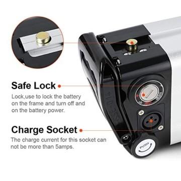 SEASON E-Bike Akku 36V 15Ah(555Wh) mit USB, Pedelec Ersatzbatterie für Aldi Prophete Mifa Samsung Phylion - 4