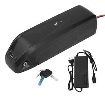 Sinbide E-Bike 48V E-Bike-Akku 10Ah / 13Ah / 17Ah Li-ION E-Bike-Fahrradakku mit Ladegerät und Diebstahlsicherung sowie USB-Anschluss (17Ah) - 1