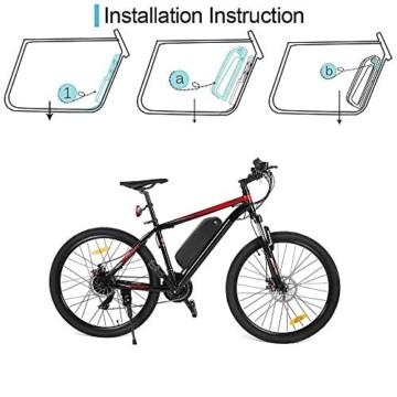 Sinbide E-Bike 48V E-Bike-Akku 10Ah / 13Ah / 17Ah Li-ION E-Bike-Fahrradakku mit Ladegerät und Diebstahlsicherung sowie USB-Anschluss (17Ah) - 5