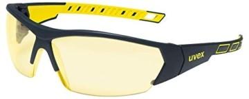 Uvex 9194365 i-Works Schutzbrille - Arbeitsbrille - Gelb - 1 Stück - 1