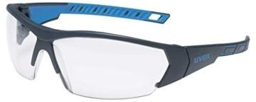 uvex i-Works Schutzbrille 9194 - Kratzfest & Beschlagfrei, 100% UV-400-Schutz - Sicherheitsbrille mit Klarer Scheibe - Arbeitsbrille mit Antibeschlag- und Antikratz-Beschichtung - 1