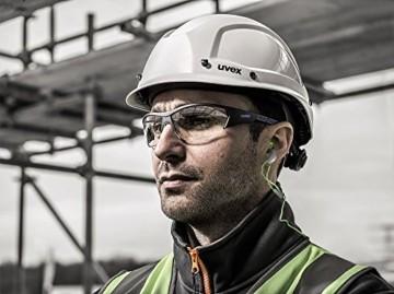 uvex i-Works Schutzbrille 9194 - Kratzfest & Beschlagfrei, 100% UV-400-Schutz - Sicherheitsbrille mit Klarer Scheibe - Arbeitsbrille mit Antibeschlag- und Antikratz-Beschichtung - 7
