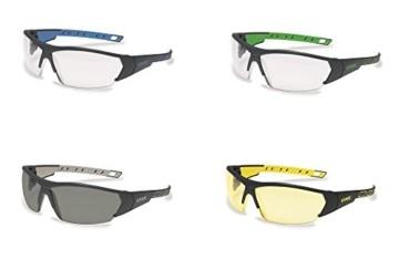 uvex i-Works Schutzbrille 9194 - Kratzfest & Beschlagfrei, 100% UV-400-Schutz - Sicherheitsbrille mit Klarer Scheibe - Arbeitsbrille mit Antibeschlag- und Antikratz-Beschichtung - 9