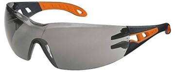 Uvex Pheos Schutzbrille - Supravision Excellence - Getönt/Schwarz-Orange - 1