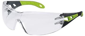 Uvex Pheos Schutzbrille - Supravision Excellence - Transparent/Schwarz-Grün - 1