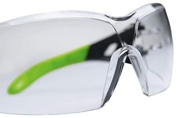 Uvex Pheos Schutzbrille - Supravision Excellence - Transparent/Schwarz-Grün - 4