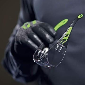 Uvex Pheos Schutzbrille - Supravision Excellence - Transparent/Schwarz-Grün - 6
