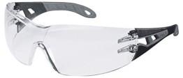Uvex Pheos Schutzbrille - Supravision Extreme - Transparent/Schwarz-Grau - 1