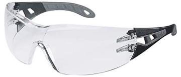 Uvex Pheos Schutzbrille – Supravision Extreme – Transparent/Schwarz-Grau -