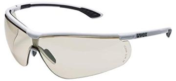 Uvex Sportstyle Schutzbrille - Braune Arbeitsbrille - Schwarz-Weiß - 1