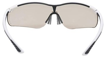 Uvex Sportstyle Schutzbrille - Braune Arbeitsbrille - Schwarz-Weiß - 3