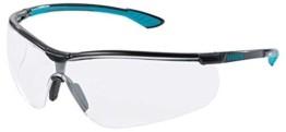 Uvex Sportstyle Schutzbrille - Supravision Extreme -Transparent/Schwarz-Petrol - 1