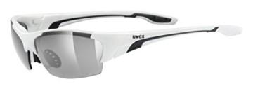 Uvex Unisex Blaze III Sportbrille, One Size, white black - 1