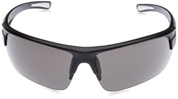 uvex Unisex– Erwachsene, gravic Sportbrille, inkl. Wechselscheiben, black mat/smoke, one size - 2