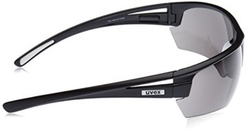 uvex Unisex– Erwachsene, gravic Sportbrille, inkl. Wechselscheiben, black mat/smoke, one size - 3