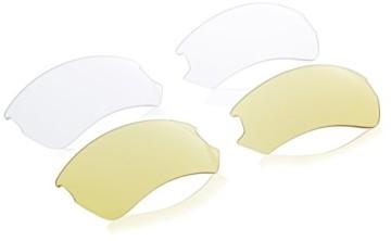 uvex Unisex– Erwachsene, gravic Sportbrille, inkl. Wechselscheiben, black mat/smoke, one size - 5