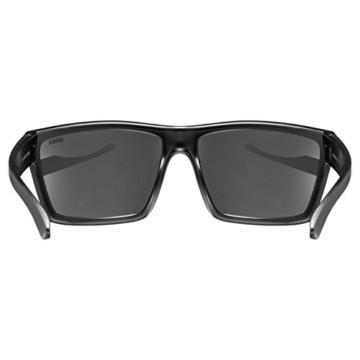 uvex Unisex– Erwachsene, lgl 29 Sonnenbrille, black mat/silver, one size - 4
