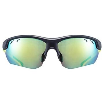 uvex Unisex– Erwachsene, sportstyle 115 Sportbrille, inkl. Wechselscheiben, black mat yellow/yellow, one size - 2