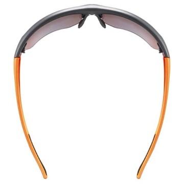uvex Unisex– Erwachsene, sportstyle 115 Sportbrille, inkl. Wechselscheiben, black matt/orange, one size - 6