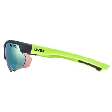 uvex Unisex– Erwachsene, sportstyle 115 Sportbrille, inkl. Wechselscheiben, black mat yellow/yellow, one size - 3