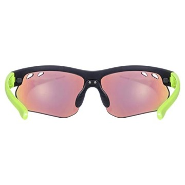uvex Unisex– Erwachsene, sportstyle 115 Sportbrille, inkl. Wechselscheiben, black mat yellow/yellow, one size - 4