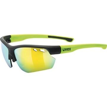 uvex Unisex– Erwachsene, sportstyle 115 Sportbrille, inkl. Wechselscheiben, black mat yellow/yellow, one size - 1