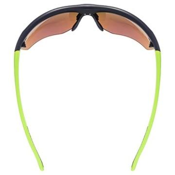 uvex Unisex– Erwachsene, sportstyle 115 Sportbrille, inkl. Wechselscheiben, black mat yellow/yellow, one size - 5