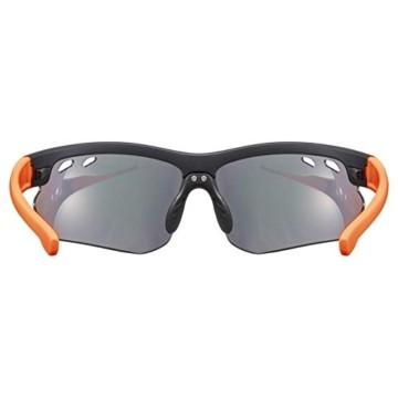 uvex Unisex– Erwachsene, sportstyle 115 Sportbrille, inkl. Wechselscheiben, black matt/orange, one size - 4