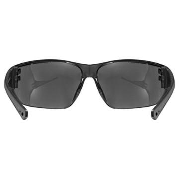 uvex Unisex– Erwachsene, sportstyle 204 Sportbrille, smoke/smoke, one size - 4