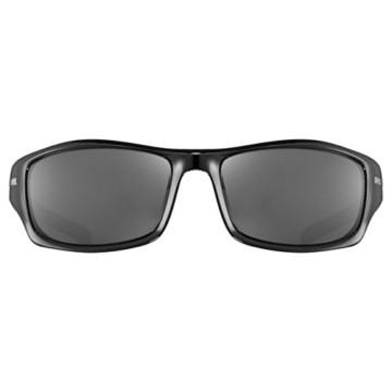 uvex Unisex– Erwachsene, sportstyle 211 Sportbrille, black/litemirror silver, one size - 2