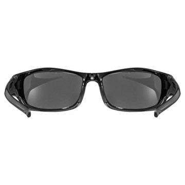 uvex Unisex– Erwachsene, sportstyle 211 Sportbrille, black/litemirror silver, one size - 4