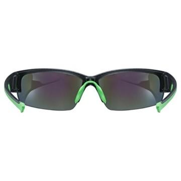 uvex Unisex– Erwachsene, sportstyle 215 Sportbrille, black mat green/green, one size - 4