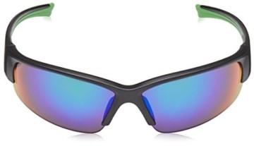 uvex Unisex– Erwachsene, sportstyle 215 Sportbrille, black mat green/green, one size - 5