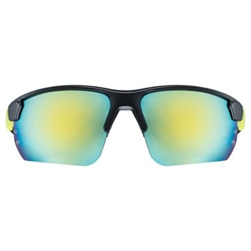 uvex Unisex– Erwachsene, sportstyle 221 Sportbrille, black mat yellow/yellow, one size - 2