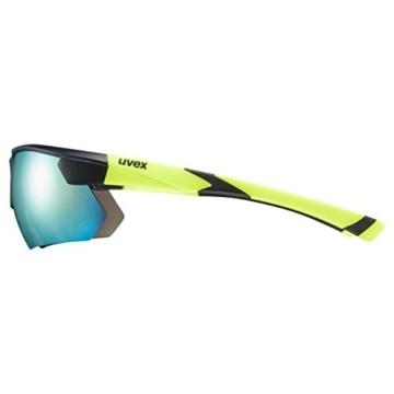 uvex Unisex– Erwachsene, sportstyle 221 Sportbrille, black mat yellow/yellow, one size - 3