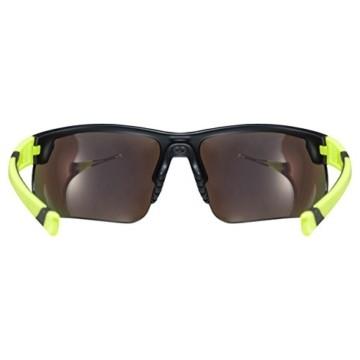 uvex Unisex– Erwachsene, sportstyle 221 Sportbrille, black mat yellow/yellow, one size - 4