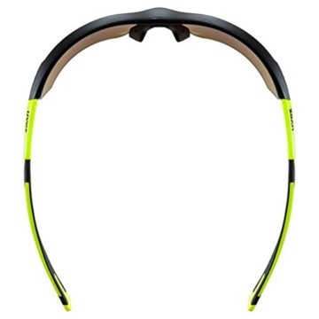 uvex Unisex– Erwachsene, sportstyle 221 Sportbrille, black mat yellow/yellow, one size - 5