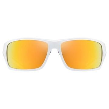 uvex Unisex– Erwachsene, sportstyle 222 pola Sportbrille, polarisiert, white/yellow, one size - 2