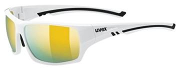 uvex Unisex– Erwachsene, sportstyle 222 pola Sportbrille, polarisiert, white/yellow, one size - 1