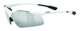 uvex Unisex– Erwachsene, sportstyle 223 Sportbrille, white/silver, one size - 1