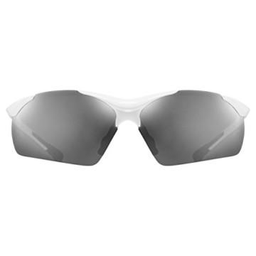 uvex Unisex– Erwachsene, sportstyle 223 Sportbrille, white/silver, one size - 2