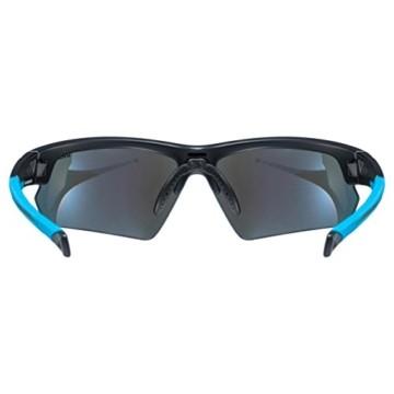 uvex Unisex– Erwachsene, sportstyle 224 Sportbrille, black mat blue/blue, one size - 4